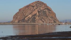 Morro Rock at Morro Bay, California