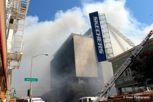 5 Alarm Fire Mission District in San Francisco