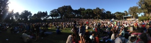Twoers of Gold Stage area Panorama