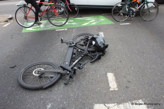 Bike involved in collision