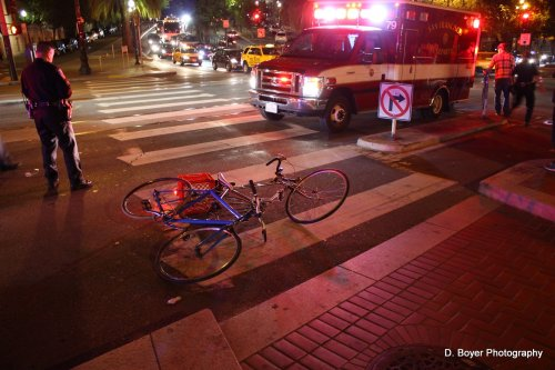 Bike vs bike accident