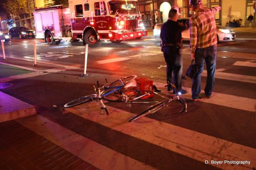 Bike vs bike accident